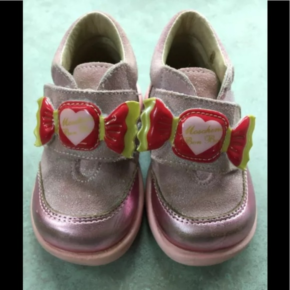 9b29a53c5da Moschino Italy Pink Suede Shoes Sneakers 19 12 M